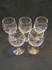 Hermoso Conjunto De 5 copas de vino de cristal (ref P388)