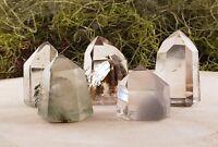 Included Phantom Quartz Lodolite Gemstone Tower Point - Mini, Small, Medium