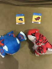 OFFICIAL Kyogre Groudon Pokemon Plush Doll Pokedoll US Tush Tag