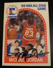 BULLS MICHAEL JORDAN RARE AUTOGRAPHED NBA HOOPS CARD