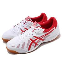 Asics Attack Hyperbeat SP 3 White Red Gum Men Table Tennis Shoes 1073A004-101