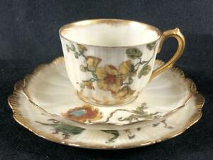 FINE ANTIQUE FRENCH LIMOGES ( M. Redon.) PORCELAIN CUP, SAUCER & PLATE. #1.