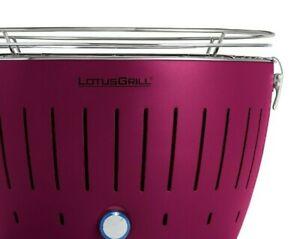 LotusGrill, lila, USB Anschluss, inkl. Kohle, Paste, Pinsel, Grillzange