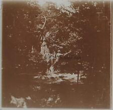 Robinson Bois de Chataigniers Ile de France Photo Plaque Stereo Vintage