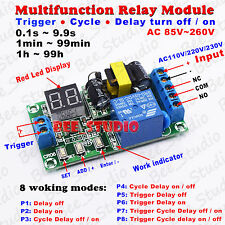 AC110V 220V 230V LED Multi-function Cycle Timer Relay Module Delay OFF/ON Switch