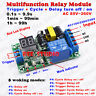 AC 110V 220V Digital LED Cycle Loop Delay turn ON/OFF Switch Timer Relay Module