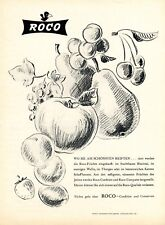 Canning factory Roco in Rorschach 1947 ad Switzerland advertising fruits