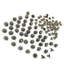 30 Sets Alloy Flower Rivets Studs Spike Accessories for DIY Bags Shoes 8mm