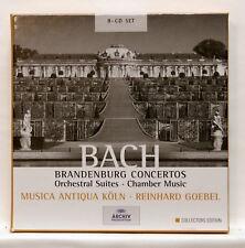 REINHARD GOEBEL - BACH brandenburg concertos, orchestral suites ARCHIV 8xCDs NM