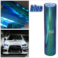 200x30cm Colorful Blue Taillight Fog Head Light Headlight Tint Film Wrap 78x12""