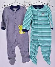 ( 2 ) Simple Joys by Carter's Infant Baby Boys Footed Sleep & Play Pajamas 6-9M