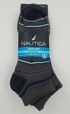 6 Pair Nautica Low Cut Socks, Men's Shoe Size 6-12.5 Super Soft, Gray S4
