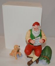 LENOX The 1998 Santa Claus and Dog Wish List Figurine set
