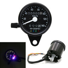 Black 12V LED Round Motorcycle Speedometer Odometer Gauge Indicator Signal Kmh