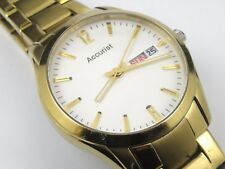 Mens Gold Plated Accurist MB985W Dress Oversize Bracelet Watch - 50m