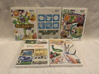 Nintendo Wii lot of 5 games, party game pack, play, sports, Squeeball, TESTED!
