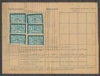 1933 Feuillet Assurances Sociales Type MERSON Surch M 6 timbres 36f P2589