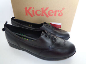 Kickers Ladies Black Leather Trainers Womens New Nurse Shoes RRP £60 Sizes 4-7