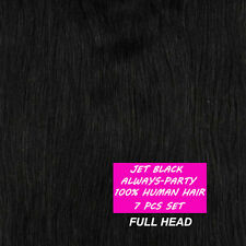 "100% Real Cheap 20"" 22"" Clip In Remy Human Hair Extensions Full Head US Stock A4"