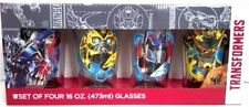 New Transformers 4pk 16oz Pint Glasses Bumble Bee Optimus Prime Megatron