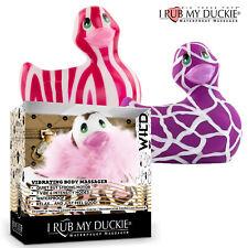 I Rub My Vibrating Waterproof Duckie 2.0 Bath Duck Wild Theme Papera Vibrante