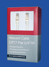 HIGH-QUALITY Ethernet Network Gold Plated Cable CAT7  U/FTP Flat Patch Lead- 20M