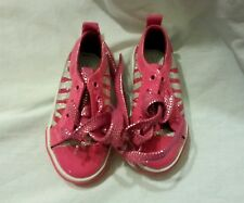 Ellemenno Girls Tennis Shoes Size 5 Toddler Footwear Pink Silver Fashion