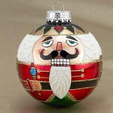 PACK of (6) Christmas Glass Nutcracker Ball Ornaments 80MM GG0383 Kurt Adler