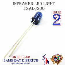 2x 940nm Infrared LED Lamp Blue 5mm IR High Power Emitter TSAL6200