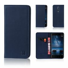 32nd Classic Series - Real Leather Book Wallet Case Cover for Nokia 8 Real Leat