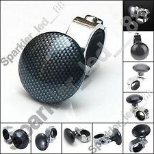Carbon Car Steering Wheel Spinner Knob Auxiliary Booster Aid Control Handle