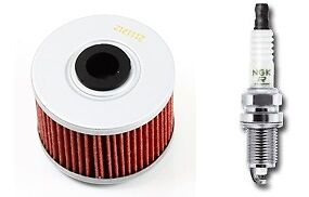 Oil Filter NGK Spark Plug Tune up Kit Honda TRX700XX TRX 700 2008 2009 ZFR7F-11