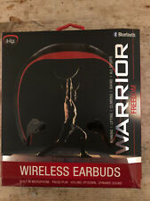 iHip Warrior Black & Red Athletic Wrap Earbuds