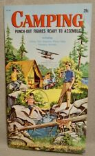 1962 CAMPING GOLDEN FUNTIME Punch-Out Book - #GF206 - RARE & VERY MINT