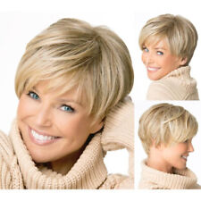 Women Fashion Natural Blonde Straight Short Hair Party Cosplay Beauty Full Wigs