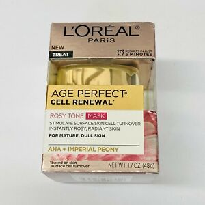 L'Oreal Age Perfect Cell Renewal Rosy Tone Mask 1.7oz For Mature, Dull Skin NEW