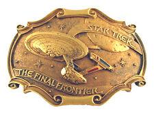 1986 Star Trek Final Frontier 20th Anniversary Metal Belt Buckle- FREE S&H