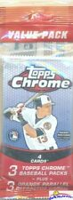 2013 Topps Chrome Baseball EXCLUSIVE Factory Sealed Value Pack-ORANGE REFRACTORS