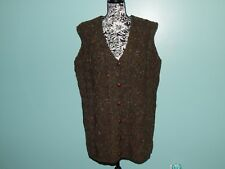 AranCrafts Sweater Vest Fisherman 100% Wool Green Cable Knit Ireland NWT sz XL