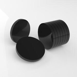 Perspex Black Plastic Circles / Laser Cut Acrylic Disc - CUSTOM SIZE CUT - Gloss