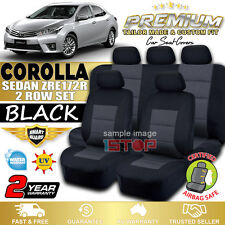 PREMIUM BLACK SEAT COVERS for TOYOTA COROLLA SEDAN ZRE172R 2014-2018 ASCENT SX