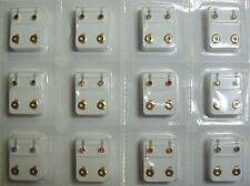 24 Ohrstecker Gesundheitsstecker vergoldet mit 12 Farbe