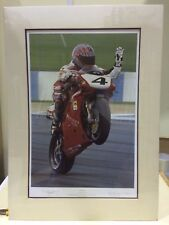 Ray Goldsbrough - Ruby Red (mounted) Co Signed by Carl Fogarty