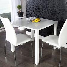 Esstisch LUCILLE Küchentisch Tisch quadratisch Hochglanz weiss 80x75x80cm Neu