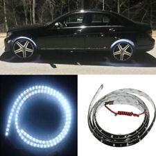 4x 60cm White LED Wheel-Well Neon Glow Flexible Strip Lights Fender Lamps Kit