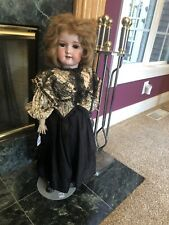 """28"""" Antique Bisque Head Armand Marseille Doll Compo Body 390 A 12 M Orig Outfit"""