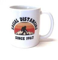 Bigfoot Sasquatch Social Distancing Since 1967 Ceramic Coffee Mug | 11-Ounce Mug