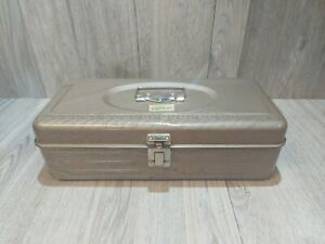 Vintage Union Steel # 4313 Metal Tackle Tool Utility Box Chest Fishing