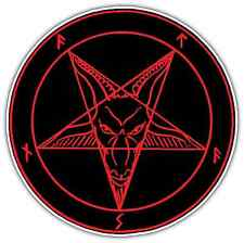 Sigil of Lucifer Satan Devil Demon Evil Hell Bumper Vinyl Sticker Decal 4.6X4.6""