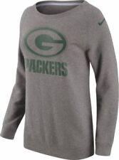 Nike Womens Green Bay Packers Championship Drive Grey Crew Sweatshirt 803819-063
